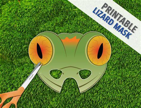 Printable Lizard Mask Template | lizard mask gecko lizard mask reptile party mask by