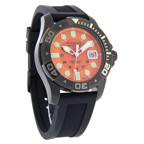 Swiss Army Ravva Hitam Orange victorinox swiss army dive master 500 mens orange gunmetal 241428 ebay
