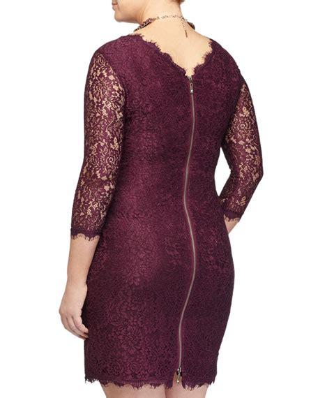 3 4 Sleeve Lace Sheath Dress marina rinaldi 3 4 sleeve lace sheath dress plus size