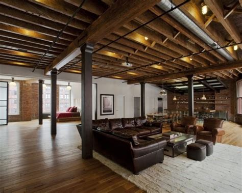 loft style homes basement w unfinished ceiling wood floor