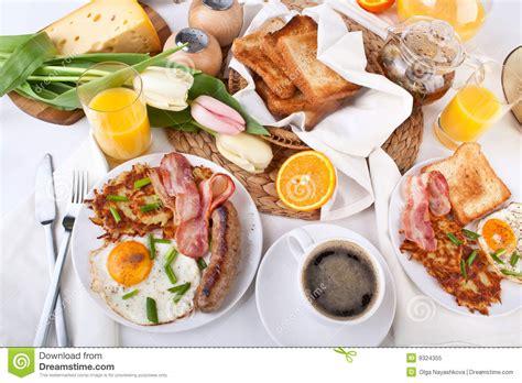 cuisine des etats unis traditioneel groot amerikaans ontbijt royalty vrije stock