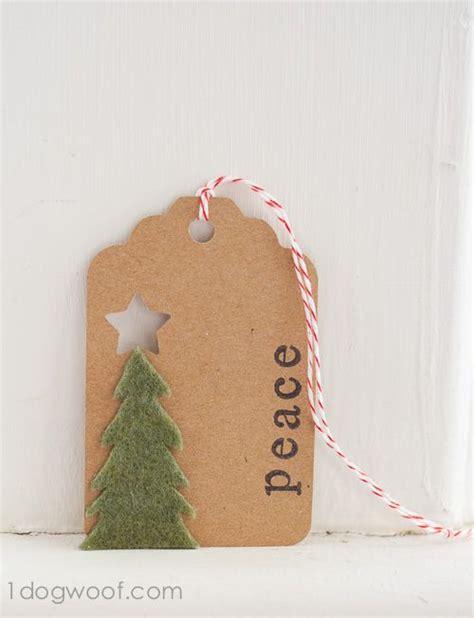homemade christmas gift tags day 5 felt christmas tree