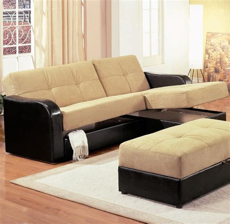 Contemporary Sectionals Kuser Contemporary Chaise Sofa Sleeper Sectional With