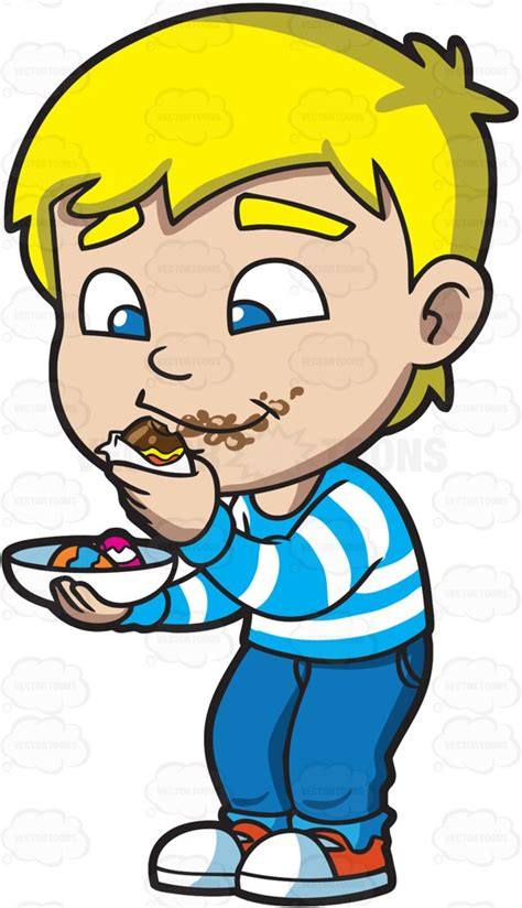 what to do if your eats chocolate home remedies clipart a boy messily eats some easter egg chocolates
