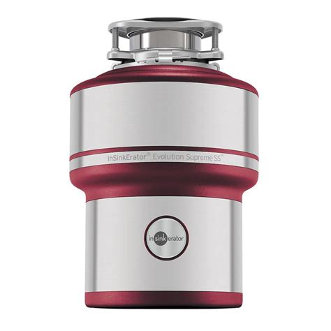 sink disposal home depot insinkerator evolution supreme stainless steel 1 hp