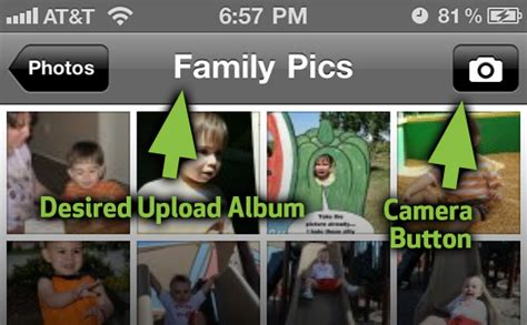 photobucket mobile upload how to upload a photo to your preferred album on