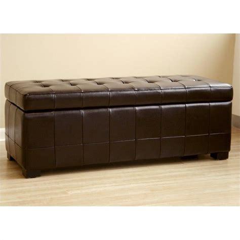 dark brown storage bench storage bench ottoman in dark brown y 105 001 dark brown