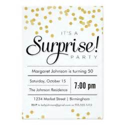 confetti surprise party invitation zazzle