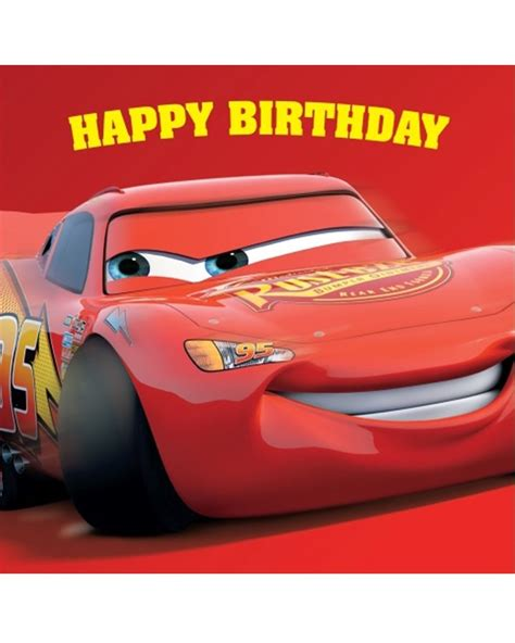 Car Birthday Cards For Cars Square Birthday Card Party Supplies