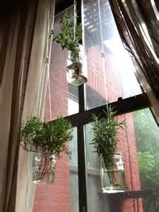 hanging window garden diy recycled project floating herb garden diy plants for the home and outside spaces