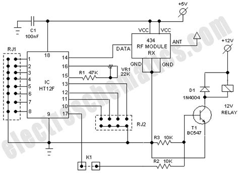 Wifi Receiver Circuit Diagram Circuit And Schematics Diagram Rf Based Wireless Remote Switch