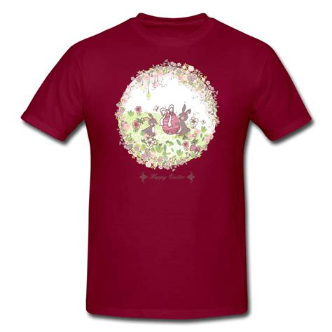 Handcrafted T Shirts - custom shirts images two lovely bunnies in wreath