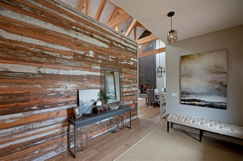 Wood Walls In Living Room accent wall with salvaged wood in the living room decoist