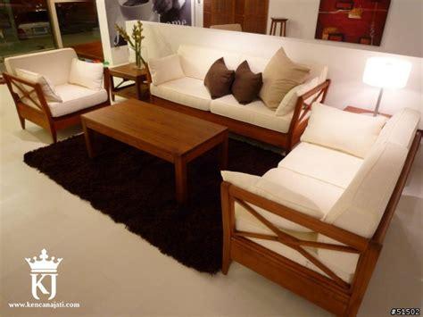 Kursi Sudut Busa Minimalis Kursi Tamu Jati Busa Bantalan Minimalis Kencana Jati Furniture
