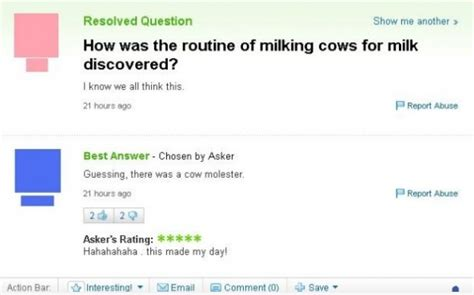 best yahoo questions and answers the 40 funniest yahoo questions and answers