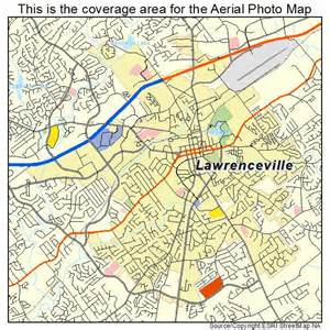 aerial photography map of lawrenceville ga