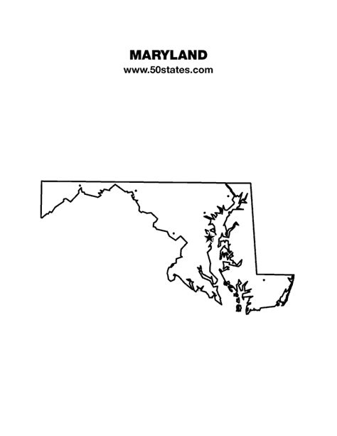 maryland map blank maryland map