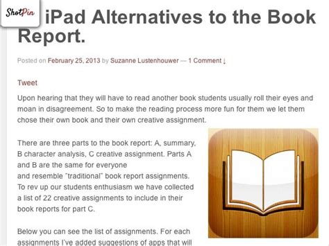 alternatives to book reports 1000 images about book reports on thinking