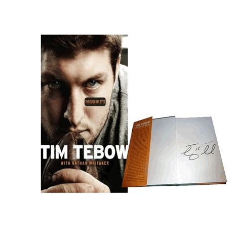 tim tebow through my book report tim tebow quot through my quot signed autographed book