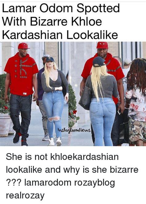 Lamar Odom Meme - lamar odom spotted with bizarre khloe kardashian lookalike