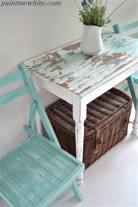 cottage furniture washed painted aqua blue and
