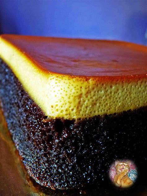 syapex kitchen kek coklat puding karamel