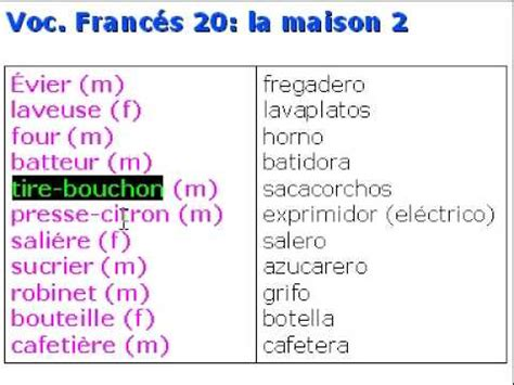 traductor cocina franc 233 s vocabulario 20 la maison youtube