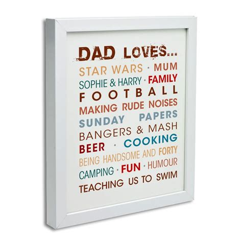 typography gifts personalised words typography canvas print