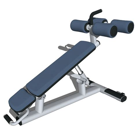 life fitness bench multi adjustable decline bench 3d model formfonts 3d