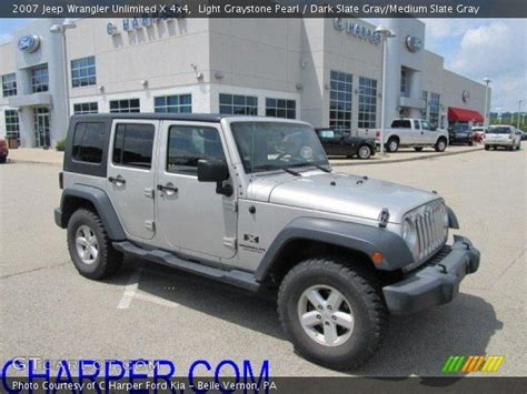 jeep wrangler light grey light graystone pearl 2007 jeep wrangler unlimited x 4x4