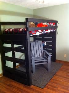Loft Bed Made From Pallets Loft Bed And Chair Made From Pallets Up Cycled