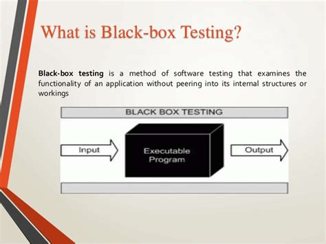 black box testing sorfware engineering presentation software testing