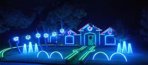 watch dubstep christmas light show