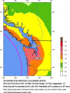 earthquake map for canada
