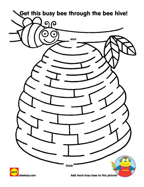Printable Insect Mazes | busy bug printables maze free printable and bees