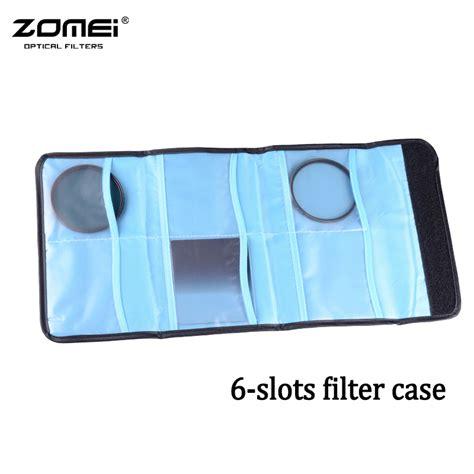 6 Pockets Black Filter Wallet For 49mm 82mm Tianya Cokin P Filter zomei new lens filter wallet 6 pockets filter bag for