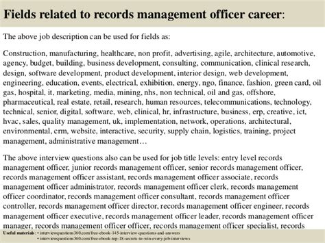 Records Duties by Top 10 Records Management Officer Questions And Answers