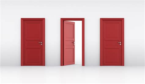 Three Doors by Three Doors Door Choose A Person Thinking In Front Of
