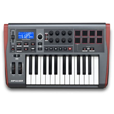 Keyboard Midi novation impulse 25 key usb midi controller keyboard at gear4music