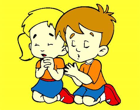 imagenes de niños orando a dios dibujo de ni 241 os resando a dios pintado por canica en