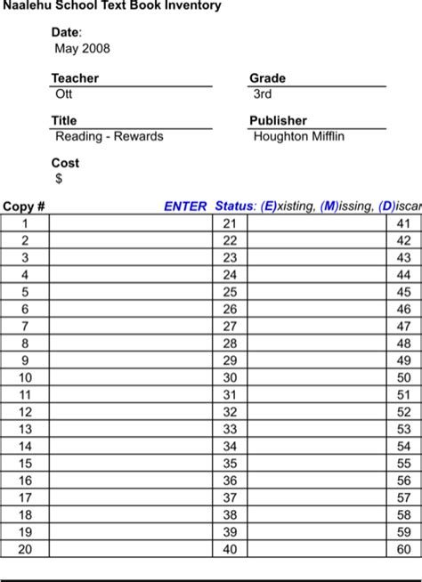 book inventory template book inventory template for free formtemplate