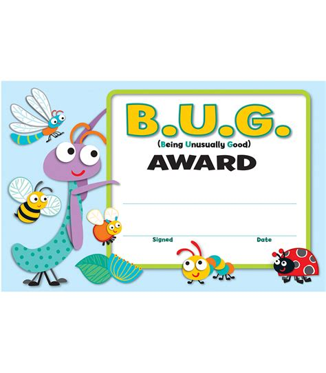 printable insect name tags buggy for bugs recognition awards grade pk 5 carson
