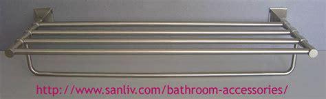brushed nickel bathroom shelving unit sanliv brushed nickel towel shelf luxury bathroom accessories