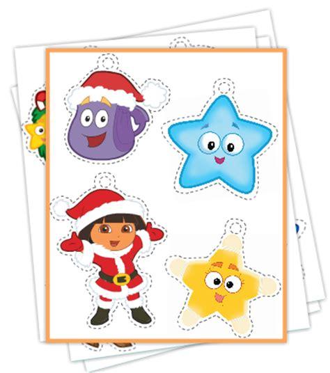 printable disney ornaments free easy printable dora christmas ornaments jinxy kids