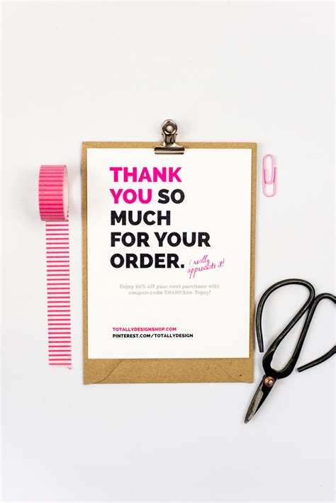 Thank You Card Downloads Business Thank You Cards Instant Brightly Bold