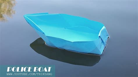 how to make an origami boat paper boat that floats on - How To Make A Paper Police Boat