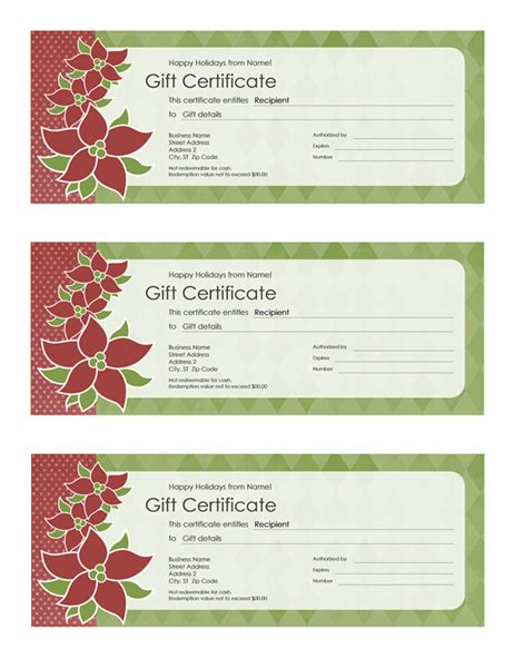 Page Gift Certificate Template by Certificates Office