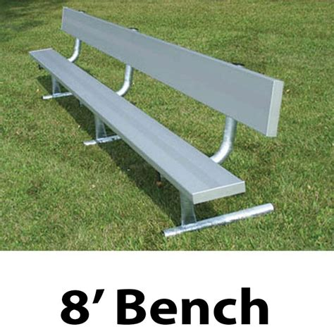 aluminum bench aluminum player bench w backrest portable 8