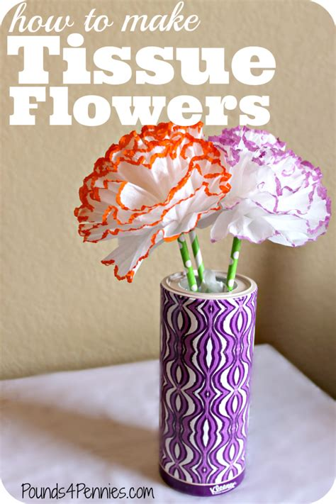 How To Make Small Flowers Out Of Tissue Paper - how to make tissue flowers with kleenex fit