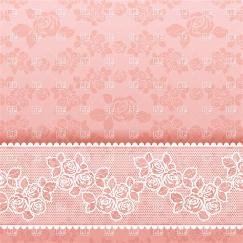 Wallpaper Vintage Vector Design Background | pink vintage wallpaper with roses royalty free vector clip